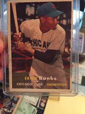 1957 Topps Ernie Banks Chicago Cubs #55 Baseball Card