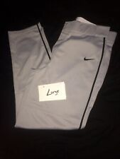 Euc Nike Performance Apparel Baseball Pants Gray/Black Strip Mens Large