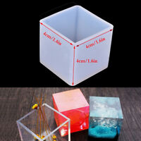 DIY Silicone Pendant Mold Jewelry Making Cube Resin Casting Mould Craft Tool Hw