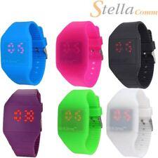 Blink tiempo Mini Reloj colorido Touch operado Led Digital Correa De Silicona