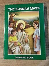 "Childrens' Catholic Coloring Books ""THE SUNDAY MASS""  PKG of 12 bk, NEW in PKG"