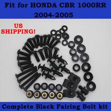 Complete Screws Black Fairing Bolt Kit fit for HONDA CBR 1000RR 2004-2005