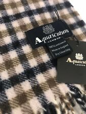 Aquascutum Pure Lambswool Bufanda Clásico Casa Cuadros