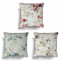 "Jeannie Floral Cushion Cover Luxury Flower Print Cushion Covers 17"" x 17"""