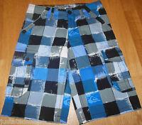 Quiksilver boy summer shorts 11-12 y BNWT  blue check
