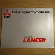 MITSUBISHI COLT LANCER 1200 1400 1600 SL GL DL 2 4 Door UK Brochure 1977 - 1978