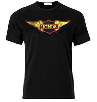 Honda Motorcycle Logo- Graphic Cotton T Shirt Short & Long Sleeve