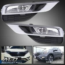 For 2015-2016 Honda Cr-V Crv Clear  000025Fe Bumper Lights Driving Fog Lamps + Switch