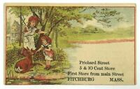 5 & 10 Cent Store Prichard Street Fitchburg Massachusetts MA Mass Victorian Card