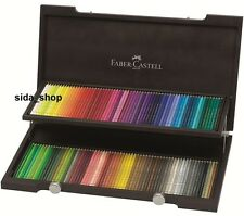 120 Faber Castell POLYCHROMOS Farbstifte Künstlerfarbstifte im Holzkoffer NEU