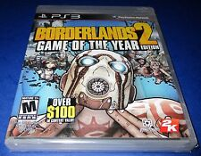 Borderlands 2 - Game of the Year Edition Sony PlayStation 3 *Sealed-Free Ship!