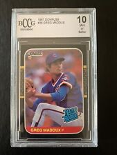 Greg Maddux (Chicago Cubs) 1987 Donruss #36 RC RATED ROOKIE CARD BCCG10 GEM MINT