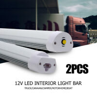 2X LED Interior Light Strip Bar Car Van Bus Caravan Camper Motorhome White 12V