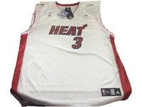 New W/Tags Miami Heat Dwyane Wade Adidas NBA Basketball Jersey Mens 2XL White