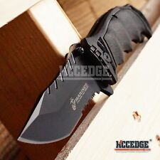 "8.5"" 3.5MM USMC MARINES MILITARY TACTICAL Assist Open Blade BLACK POCKET KNIFE"