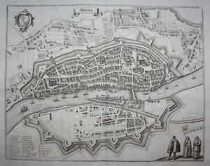 Bremen Weser Stadtplan Plan engraving Kupferstich Merian 1650