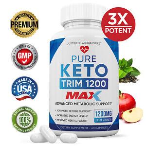 Pure Keto Trim 800 Max 1200MG Weight Loss Pills Ketogenic Ketosis BHB Supplement