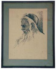 A Folk Art print titled Patriarch, a Jewish Person, by Martin Zipin.