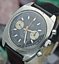 Vintage CLINTON Chronograph Landeron 248 All Stainless Steel Men's Sport Watch