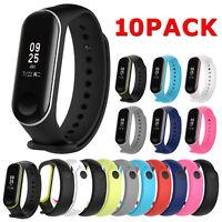 10pcs Silicon Wristband Bracelet Watch Strap Replacement for XIAOMI MI Band 3