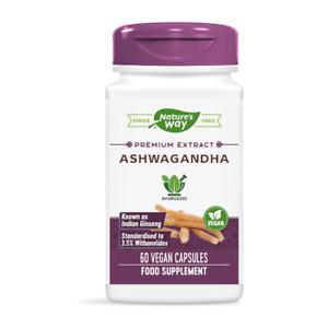 Ashwagandha Premium Extract   60 Tablets   Nature's Way   Ayurvedic   Free P&P