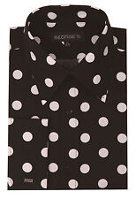 Men's Dress Shirt with Big Polka Dot Design by George's 100% Cotton PD616