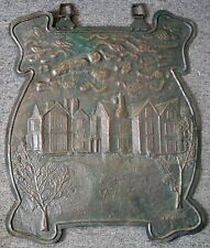 1900 British Arts & Crafts Hand Hammered 2-D Copper Sign by Artist A. W. Kiddie