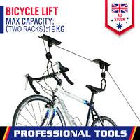 Bicycle Hoist Storage Rack Bike Surfboard Lifter Ceiling Storage Hooks Garage