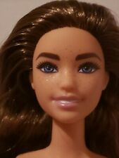 NUDE DOLL Barbie Fashionistas Doll 137 Brunette Freckles