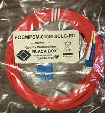 Black Box Fiber Optic Cable FOCMPSM-010M-SCLC-RD