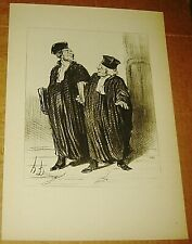 HONORE DAUMIER LITHOGRAPH LAW & JUSTICE BOOK PRINT SIGNED LAWYER FRENCH 10X14 2