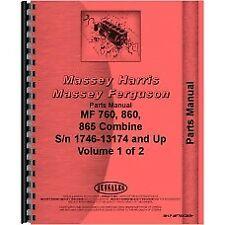 Massey Ferguson 760 860 865 Combine Parts Manual