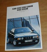 BMW serie 5 guía de color E34 1988 535i 530i 525i 520i