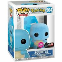 Funko Pop Pokemon # 504 Squirtle Flocked GameStop Exclusive