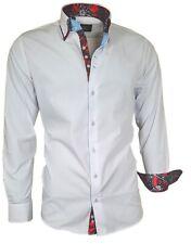 Herren Hemd Shirt Polo Doppelkragen Herrenhemd 81718 weiß Binder de Luxe