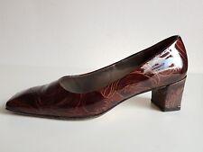 Peter emperador cuero genuino pintura señora pumps zapatos talla 38,5 (UK 5,5) marrón