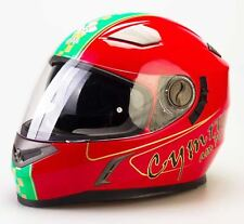 Viper Rs-v9 Wales Flag Full Face Bike Crash Lid Track Racing Motorcycle Helmet L