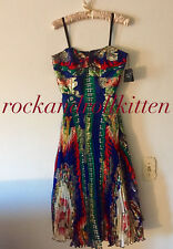 ANNA SUI FREE PEOPLE NEW YORK CITY LIBERTY STRAPLESS SILK PARTY DRESS 6 NWT $677