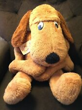 Vintage CUDDLY DUDDLY Dog by Regal - Large Brown Puppy Plush Animal 1970s