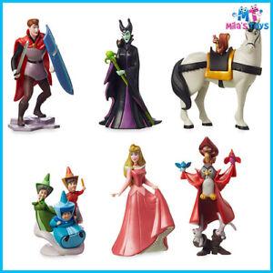 Disney Sleeping Beauty 6 piece Figurine 60th Anniversary Play Set cake topper