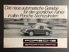 "1967 Porsche 911 ""Sportmatic"" Brochure / Prospekt German RARE Awesome L@@K"