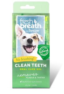 TropiClean Clean Teeth Oral Care Gel 118ml - Dog Plaque Tartar