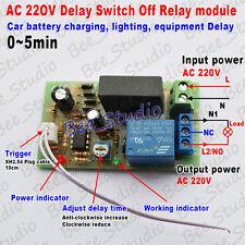 AC 220V 230V 240V Trigger Delay Timing Timer Relay Switch Delay Turn Off 0~5min