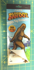 Bigfoot Gift Tag Stickers - To and from stickers with bigfoot - 4 sheets of tags