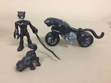 Fisher Price Imaginext DC Super Friends Catwoman Motorcycle Panther Cat whip