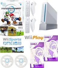 Nintendo Wii Console + 15 games inc Mario Kart + 2 Remotes + 2 Nunchucks Sports