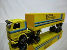 PLAYART SCANIA  TRUCK + CONTAINER TRAILER - BEERS TRUCK TRAINING - YELLOW 1:60