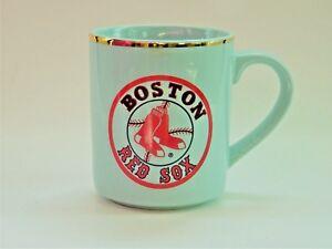 Boston Red Sox Coffee Mug Gold Rimmed Cup Major League Baseball MLB Vintage