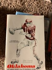 1971 Oklahoma Sooners football media press guide OU Switzer Mildren Rare Vintage