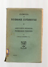 elements de psycologie experimentale - 1929